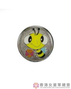 快樂小蜜蜂領巾扣(銀)
