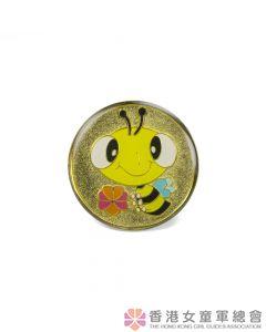 快樂小蜜蜂領巾扣(金)