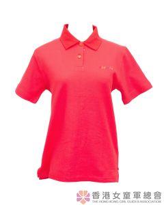 領袖短袖戶外活動服(紅色)