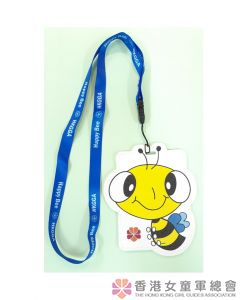 Happy Bee card holder (with lanyard)