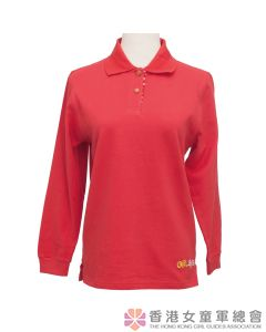 Guider Long Sleeve Polo (Red)